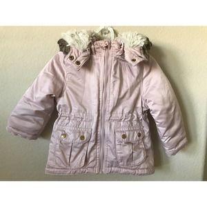 H&M Zip Up Detachable Hoodie Padded Parka Jacket